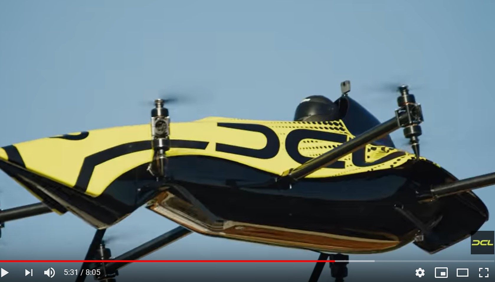 The Groundbreaking Manned Aerobatic Drone – DCL