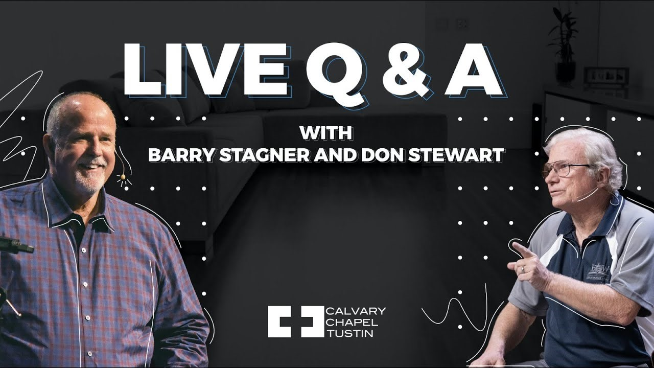 Live Q&A with Barry Stagner and Don Stewart